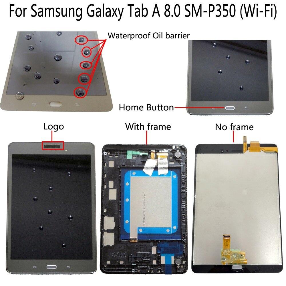 100% Shyueda para Samsung Galaxy Tab A 8,0 SM-P350 (Wi-Fi) 768x1024 Digitalizador de pantalla táctil de pantalla LCD con herramientas gratuitas
