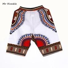 New Fashion Design African Traditional Print Cotton Dashiki Short Mens African Beach short free shipping