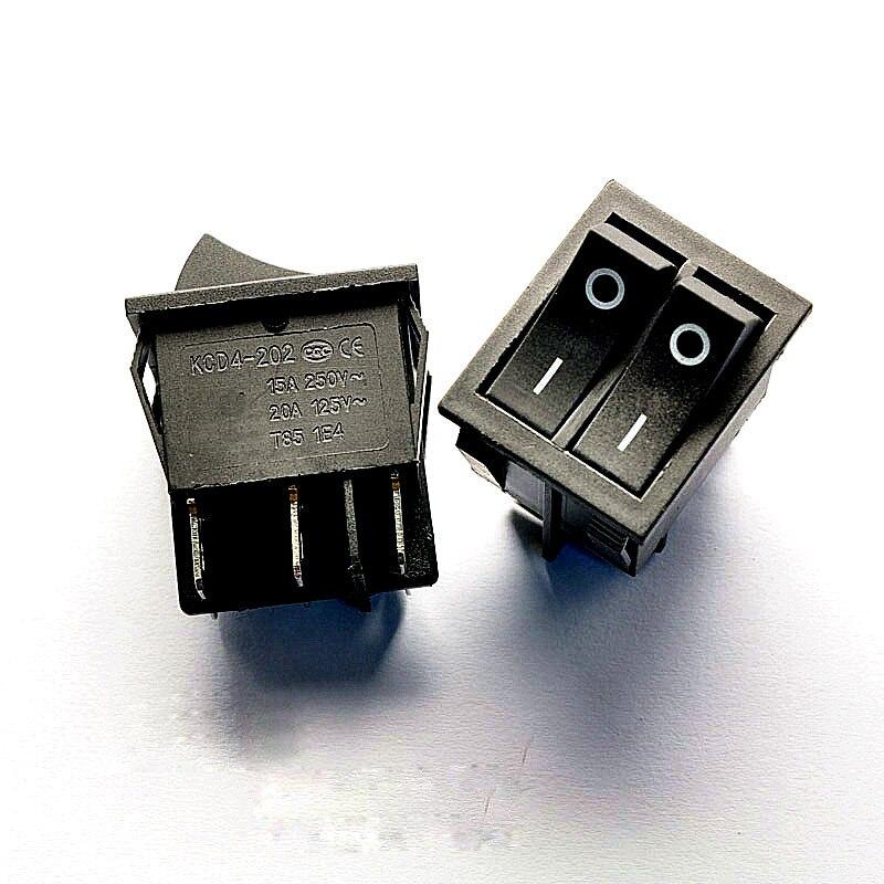 Dual 6-pin boat switch, power rocker switch KCD8-212N, KCD2 15A / 250V 20A / 125V