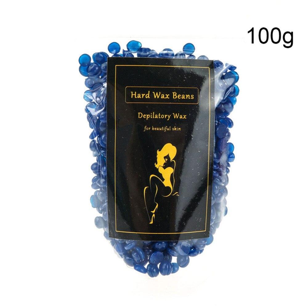 100 g/bolsa crema de eliminación de lavanda púrpura Color sin tira película caliente depilatoria Pellet de cera dura depilación Bikini depilación frijol