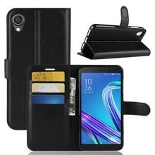 ASUS Zenfone Lite L1 G553KL ZA550KL Étui En Cuir De portefeuille en cuir synthétique polyuréthane Flip étui Asus ZenFone Live L1 ZA550KL G552KL ASUS X00RD