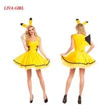 LIVA fille Halloween Pikachu avec oreille Cosplay Costume Cosplay Costume ange Costume Performance