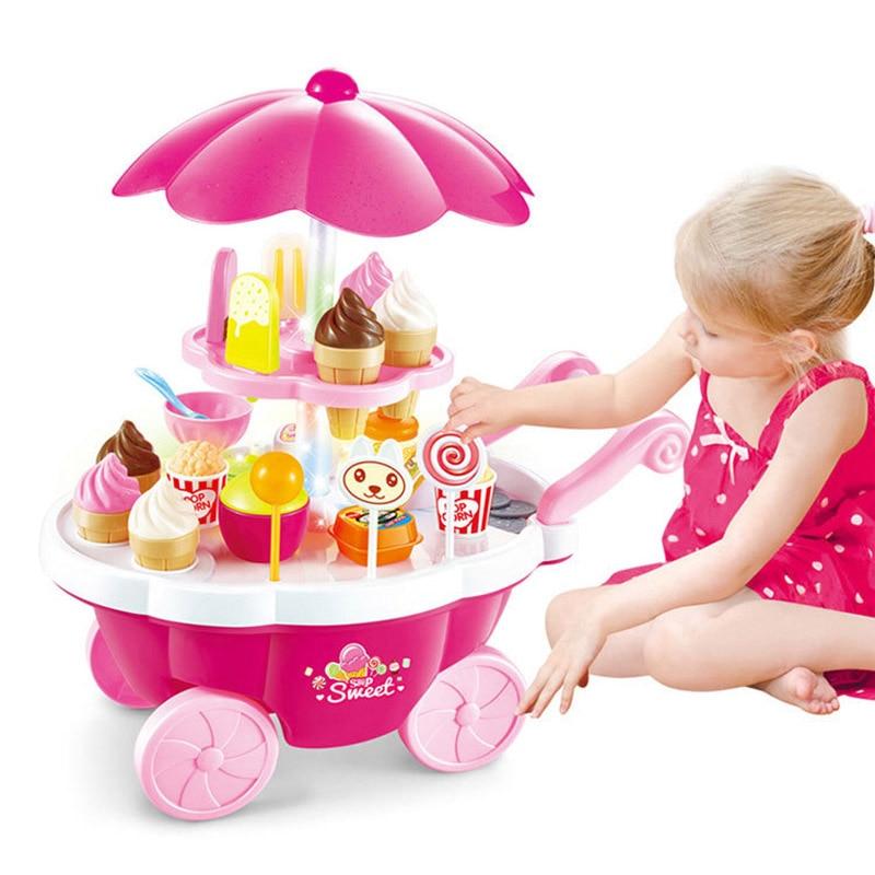39 шт., детские игрушки, имитация конфет, музыка, мороженое, мини-автомобиль, игрушки раннего развития для детей, подарки для девочек