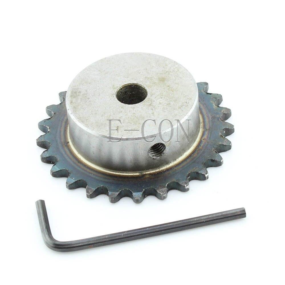 1 piezas 15mm diámetro 25 dientes 25 T Motor de piloto de Metal engranaje de piñón cadena de rodillos