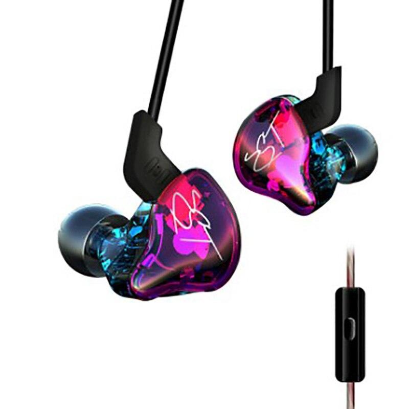 Smart line control earphones hot sell music sport Individualized design HIFI dual unit speaker HD voice noise cancelling headset
