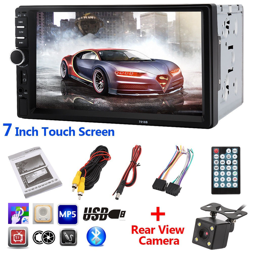 5 unids/lote 7018B 2 Din reproductor de vídeo para coche Auto Audio estéreo MP5 Player 7 pulgadas 2Din reproductor de DVD del coche USB FM Bluetooth