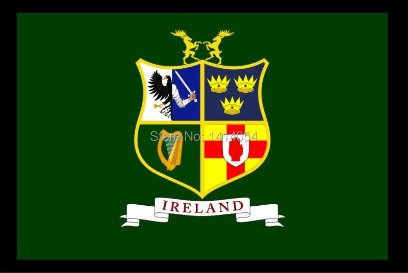 Bandera de Rugby irlandés Union2, bandera del Estado irlandés, Bandera de 150X90CM, bandera 100D Polyester3x5 FT, arandelas de latón 001, envío gratis