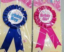 Badge de récompense ruban fête danniversaire   Pour enfants, broche pour cadeau de fête danniversaire, fournitures de fête, pour garçons et filles