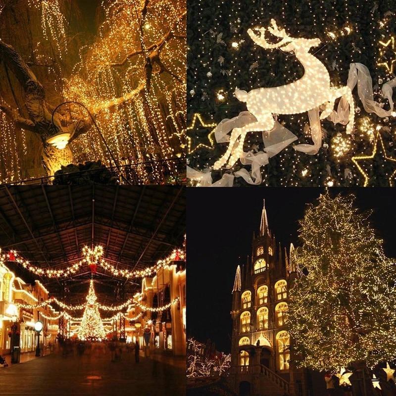Crăciun cu LED-uri în aer liber 100m 20m 10m 5m lumini de zână - Luminări festive - Fotografie 5
