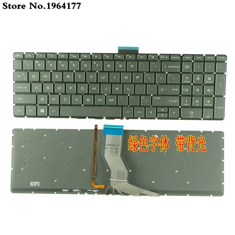 Nuevo teclado para portátil de EE. UU. Para HP Pavilion 15-ab 15-ak 15-ab000 15-ab100 15-ab200 15z-ab100 15z-ab 15AK 15ab retroiluminado sin marco