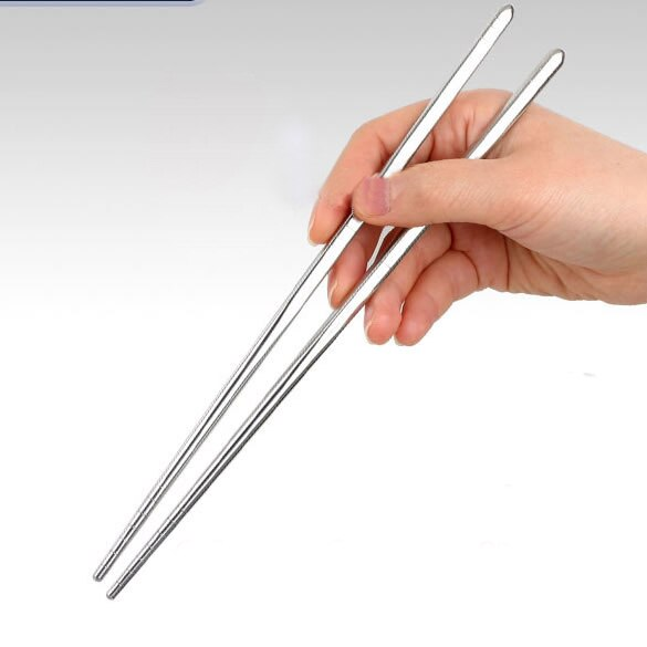 1 pares de fio de aço inoxidável, design antiderrapante, estilo chinês, varas de cocô, ambiente oco, 1 par