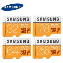 Samsung evo 마이크로 sd 카드 64g 128g u3 4 k uhd class10 UHS-I 100 메가바이트/초 sdxc 플래시 메모리 카드 32 gb u1 fhd sdhc 95 메가바이트/초 tf 카드