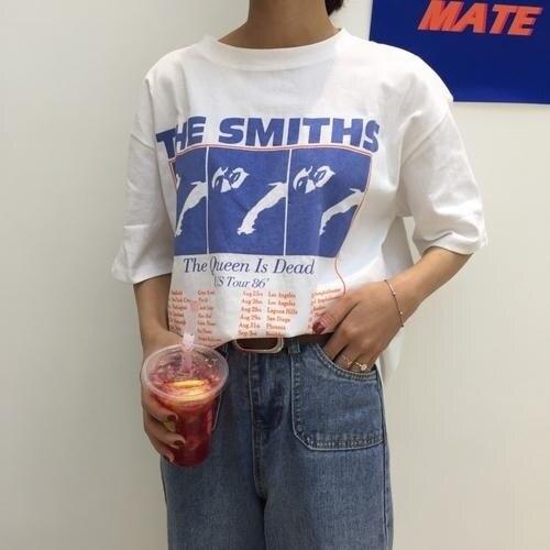 Мужская футболка в стиле ретро PUDO-JF Smiths, поп-индэ, панк-рок, Morrissey, 2018