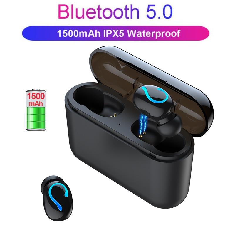 NAIKU TWS auriculares inalámbricos Bluetooth 5,0 auriculares estéreo auriculares inalámbricos con caja de carga 1500 mAh banco de energía