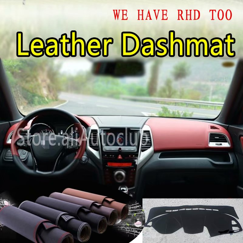 Para SsangYong Tivoli Dashmat XLV 2015 2016 2017 2018 Couro Cover Dashboard Traço Personalizado Tapete Do Carro Styling sombrinha LHD + RHD