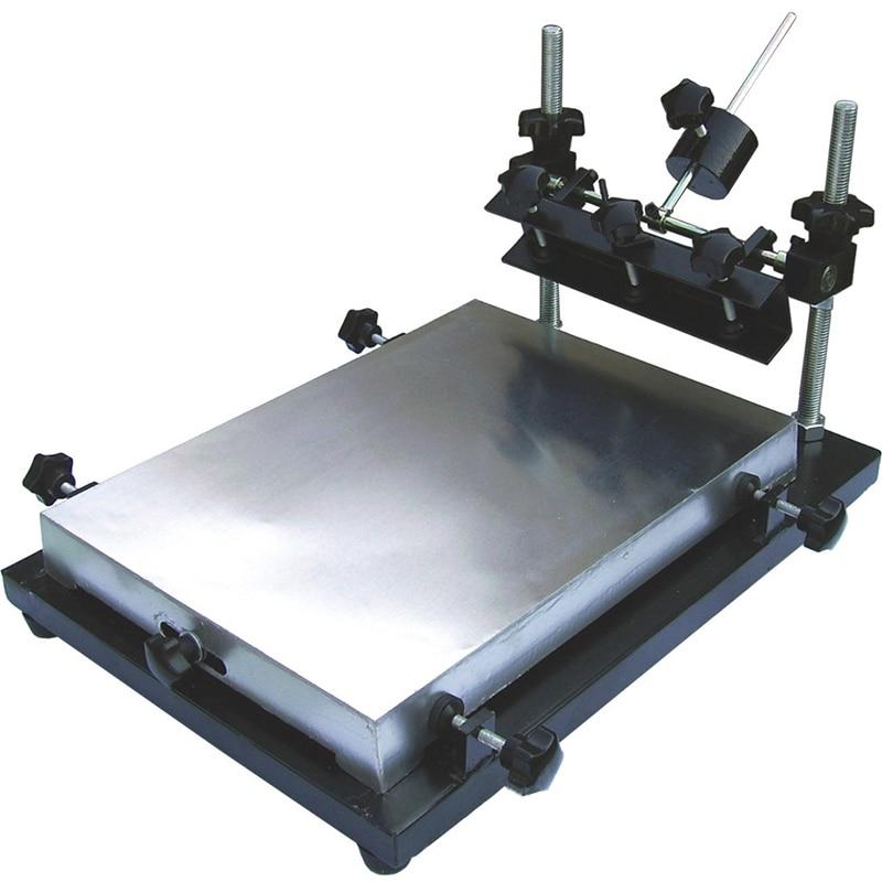 1-1 شاشة الصحافة الألومنيوم آلة طباعة الشاشة 300x240mm