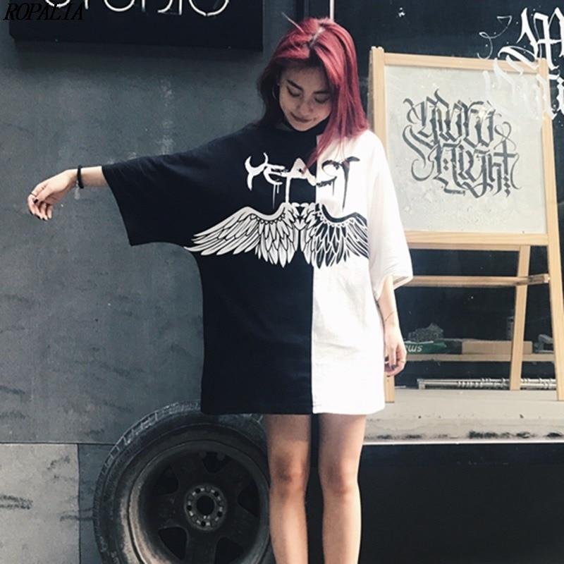 Hip Hop Printed Woman Basic T-shirt Fashion Punk Hiphop Style Sexy Funny Couple T Shirts Woman Street Fashion Tops