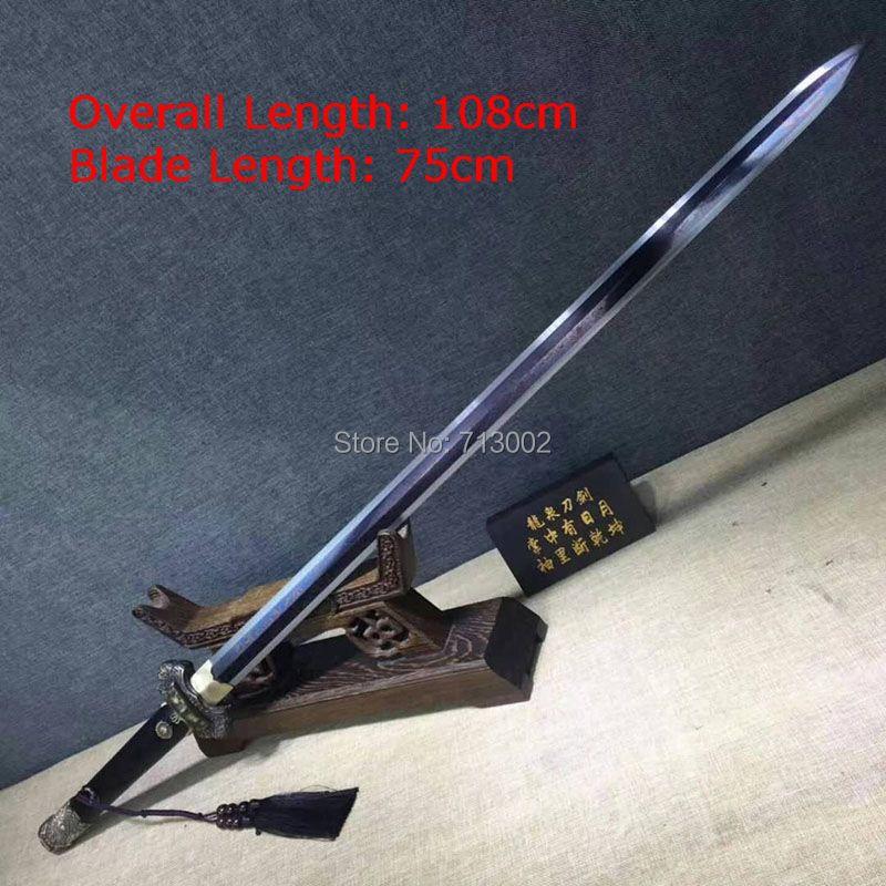 Espada WuShu súper China 608 hoja de acero veneciana sable sol dragón espada Full Tang
