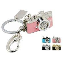 Metall Diamant Kamera Usb-Stick Mini-Stick Rosa Kamera Speicher 8GB 16GB Geschenk U Disk Mode schlüssel Kette Stift Stick