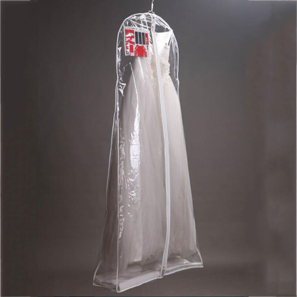 Clear Wedding Dress Cover Storage Bags Dustproof Large Bridal Gown Garment 160/170/180CM