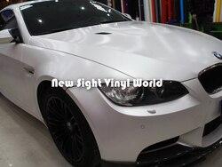 Премиум матовая сатиновая хромированная белая виниловая пленка, белая сатиновая хромированная автомобильная пленка, безвоздушная пленка для автомобиля