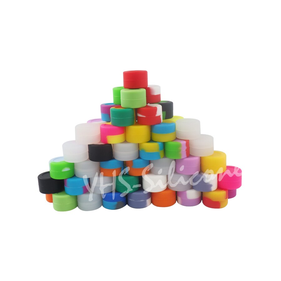 50pcs 3ml silicone oil container jars wax Free Fhipping