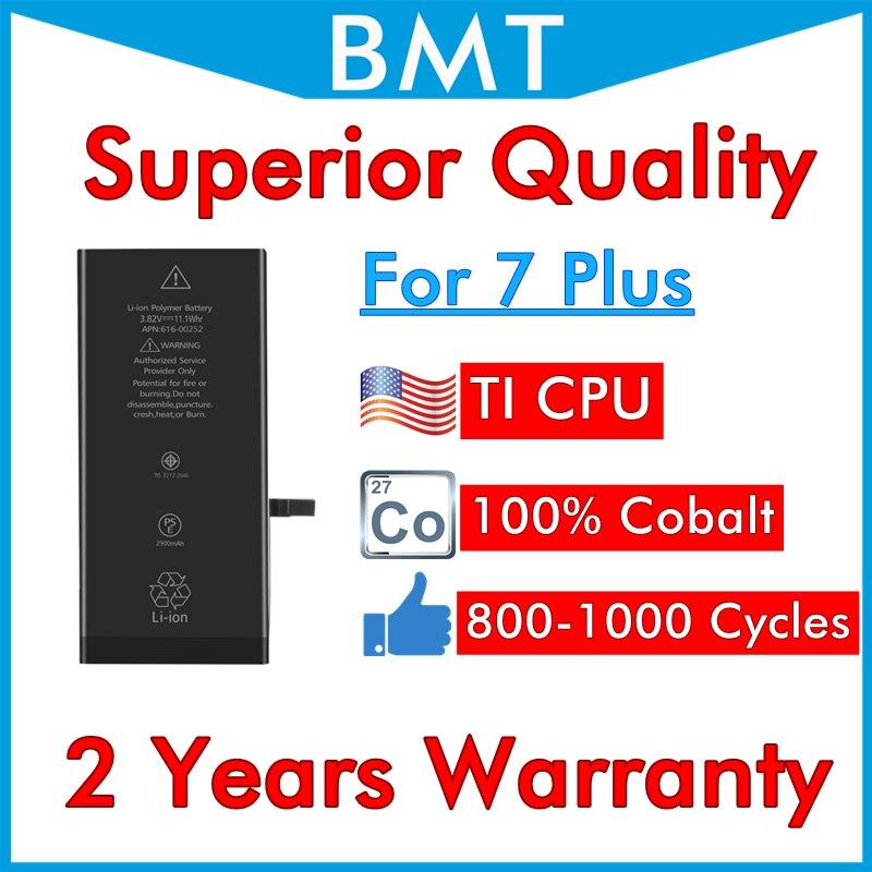Batería de calidad Superior iOS 13 para iPhone 7 Plus + 7 7 P 7 Plus, reemplazo 300 de celda de cobalto, puede mezclar orden con DHL UPS 100% Uds.