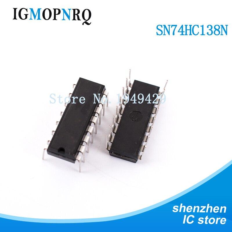 10 Uds SN74HC138N DIP16 SN74HC138 74HC138N 74HC138 multiplexor y demultiplexor 3 a 8 decodificador de línea
