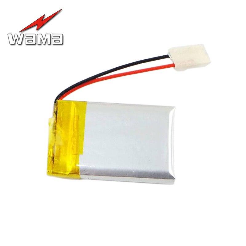 4 unids/lote Wama 402030 Li-polímero 200 mAh de carga protegida 042030 recargable de 3,7 V baterías para altavoces Bluetooth MP4 MP3
