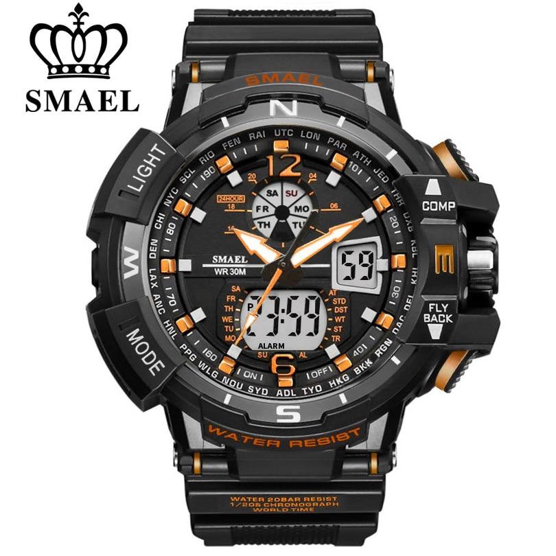 SMAEL Sport Watch Men 2021 Clock Male LED Digital Quartz Wrist Watches Men's Top Brand Luxury Digita