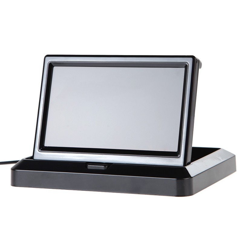 ANSHILONG 5 Foldable Color LCD Monitor Car Reverse Rearview for Rear view Camera
