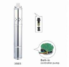 Pompe dirrigation solaire à moteur sans balais DC24V 300W   Livraison gratuite, pompe dirrigation solaire avec contrôleur MPPT à lintérieur, Max.Head 95m 3SES1.5/95-D24/300