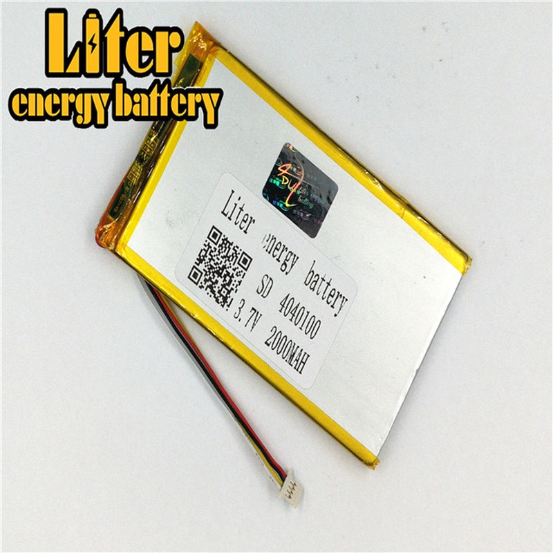1.0MM 4pin connector 4040100 3.7V 2000mah Lithium Polymer Battery for Medical equipment, beauty equi
