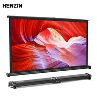 HENZIN 40 inch 16:9 Mini Table Projector Screen HD Matt White Portable Tabletop Projection Screen for LED/LCD/DLP projectors