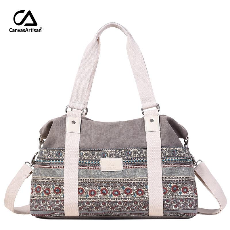 Vintage Women Messenger Bags Hangbags Tote Bolsa Feminina Canvas Hand Bag Printing Celular Shoulder Bags Travel Bolsos Mujer