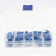 3296W-Multi-turn-trimmer-potentiometer-3296-Variable-Resistor-Kits-With-Box 3296W-Multi-turn-trimmer-potentiometer-329