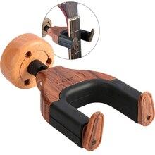 Colgadores de guitarra, gancho de madera para instrumentos de goma, soporte de pared para guitarra bajo y ukelele, accesorios para instrumentos
