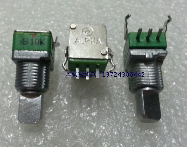 Potentiomètre à bit simple R09   2 pièces Taiwan Aihua ALPHA potentiomètre de précision R09 potentiomètre B10K potentiomètre 15 demi-poignée