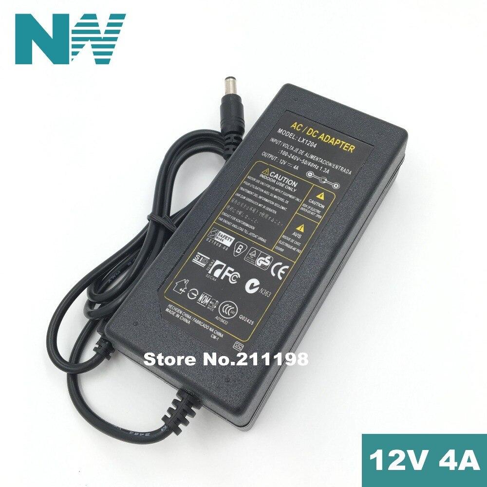 DC 12V 4A AC 100-240V 12V4A светодиодный светильник адаптер питания светодиодный адаптер питания привод для RGB светодиодный 5050 3528 2835 без линии