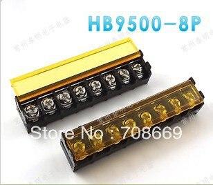 Cubierta de conector de bloque de terminales de 5 piezas 9,5mm HB9500-8 pines