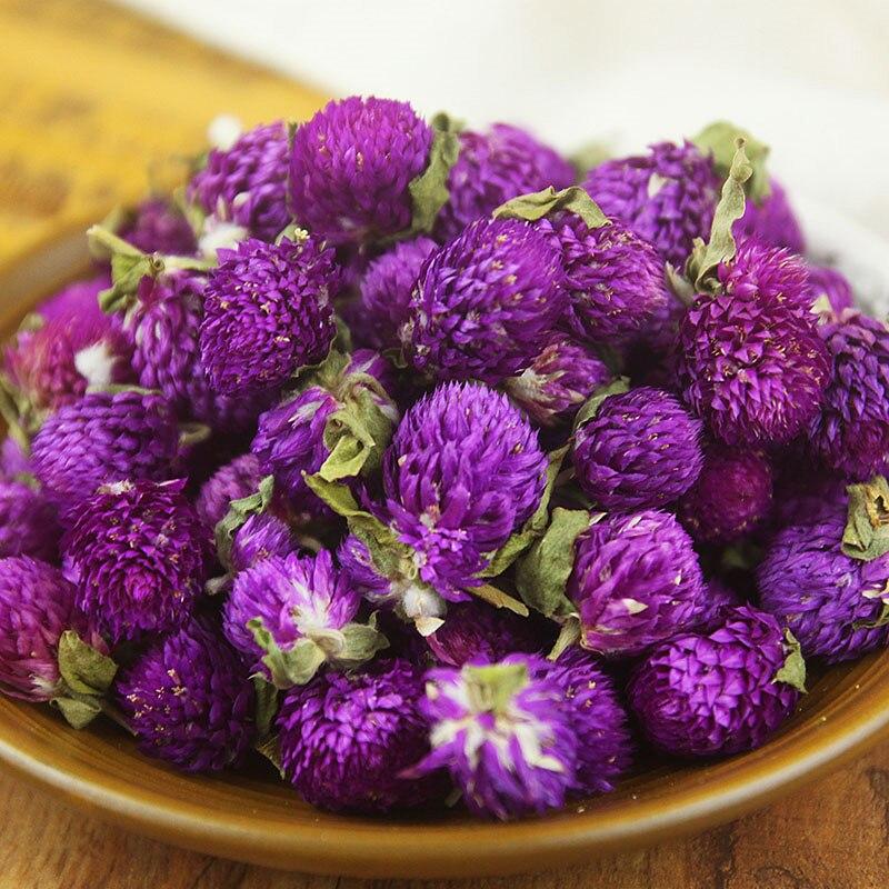 Gomphrena globosa púrpura flores naturalmente secas, flores prensadas DIY cumpleaños/Navidad/Oficina Decoración Accesorios 20PC