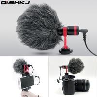 Vlog camera Video Microphone for Zhiyun Smooth 4 DJI OSMO DSLR Camera iPhone 7 6 Andriod Smartphone