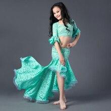 2018 Kids Children Belly Dance Performance Wears 2pcs/set Girls Oriental Dancing Clothes Sexy dance