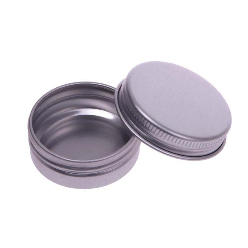 10 pcs 30ml Lip Balm Tin Nail Art Cream Pot Empty Cosmetic Containers Bottle Screw Thread #69197