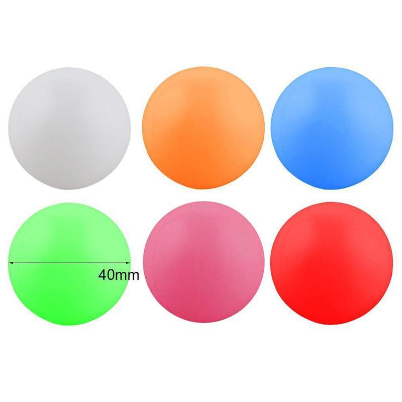 Forfar 10 Uds 38mm blanco bolas para beer pong pelotas Pelotas de ping pong lavable bebiendo blanco práctica pelota de Ping-Pong