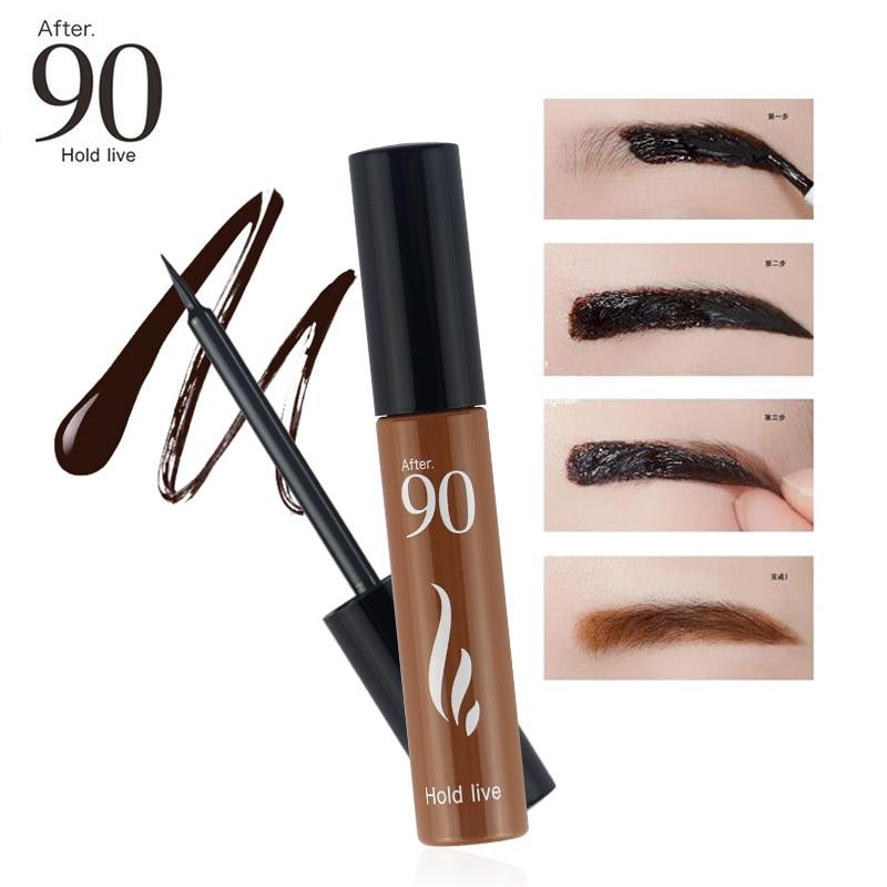 Después de 90 nueva llegada 3 colores 72H de larga duración Peel de la ceja tinte maquillaje tatuaje de cejas gel teñido Natural impermeable las cejas