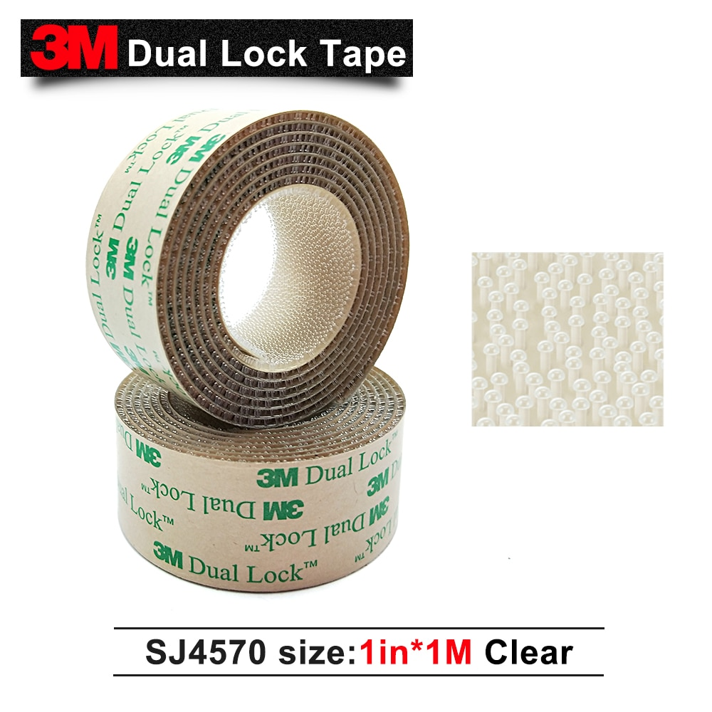 3 mt SJ4570 klebstoff dual lock band niedrigen profil wiederverschließbaren verschluss klare klebstoff dual lock punkte 1in * 1 mt
