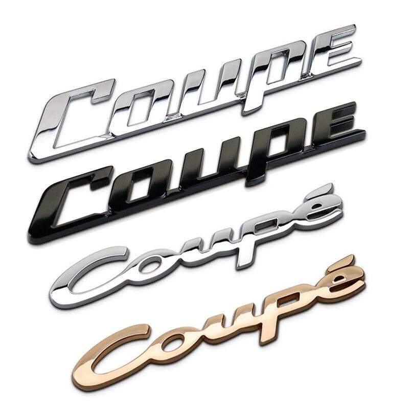 Coupe Modificado Etiqueta Do Carro de Metal Logotipo Do Emblema Do Emblema Decalques Para MINI Cooper R50 R52 R53 R55 R56 R57 R58 R59 R60 R61 R62 F55 F56