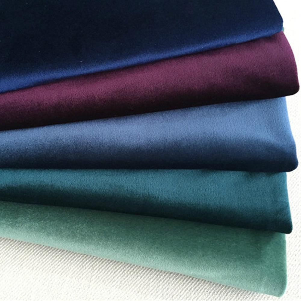 ESSIE HOME 140CM tela de terciopelo de seda tela de terciopelo Pleuche cubierta para mesa de tela tapicería cortina tela rojo azul marrón verde