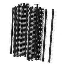 CNIM Hot connecteur tête de broche mâle 2.54mm   50 pièces ligne unique 40Pin mm